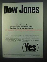 1968 Dow Jones Ad - Prospecting for Investment News