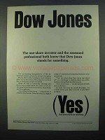 1968 Dow Jones Ad - The Seasoned Professional