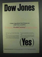 1968 Dow Jones Ad - Brings Relief From Anxieties