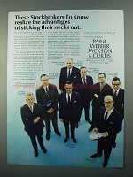 1968 Paine Webber Jackson & Curtis Ad - Stockbrokers