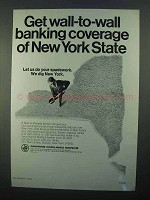 1968 Marine Midland Banks Ad - Wall-To-Wall Coverage
