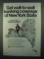 1968 Marine Midland Banks Ad - Coverage of New York