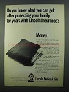1968 Lincoln National Life Ad - What You Can Get