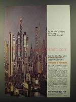 1968 The Bank of New York Ad - Overseas Financing?