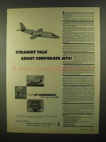 1968 Israel Aircraft Jet Commander Ad - Straight Talk