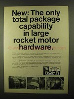1968 Rohr Space Products Division Ad - Rocket Motor
