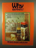1968 Seagram's 100 Pipers Scotch Ad - Why 100 Pipers?