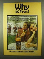 1968 Seagram's 100 Pipers Scotch Ad