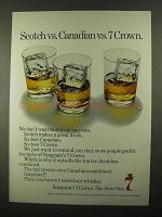 1968 Seagram's 7 Crown Whiskey Ad - Scotch vs. Canadian