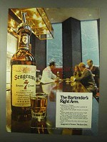 1968 Seagram's 7 Crown Whiskey Ad - Bartender's Arm