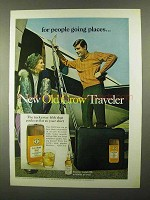 1968 Old Crow Bourbon Ad - For People Going Places