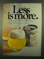 1968 Country Club Malt Liquor Ad - Less Is More