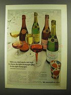 1968 Taylor Champagne Ad - Don't Need a Rule Book