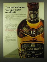 1968 Chivas Regal Scotch Ad - Paying For Our Old Age