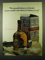 1968 Chivas Regal Scotch Ad - Behave To Friends