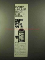 1968 Myers's Rum Ad - Nice, Bland, Delicate Daiquri