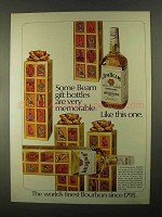 1968 Jim Beam Bourbon Ad - Gift Bottles Very Memorable