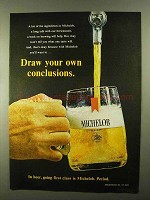 1968 Michelob Beer Ad - Draw Your Own Conclusions