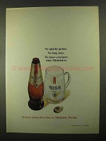 1968 Michelob Beer Ad - No Splashy Picture