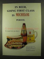 1968 Michelob Beer Ad - Going First Class