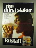 1968 Falstaff Beer Ad - Thirst Slaker
