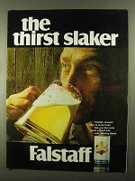 1968 Falstaff Beer Ad - The Thirst Slaker