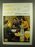 1968 Miller Beer Ad - Makes It Right
