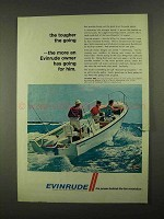 1968 Evinrude 85hp V-4 Outboard Motor Ad - Tougher