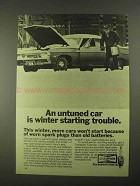 1968 Champion Spark Plugs Ad - Winter Starting Trouble