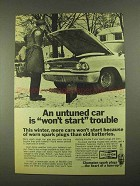 1968 Champion Spark Plugs Ad - Won't Start Trouble