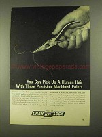 1968 Channellock Tools Ad - Pick Up a Human Hair With