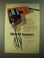1968 Millers Falls Shock-Proof Drills Ad - World Beater