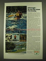 1968 Sinclair Oil Ad - Androscoggin River