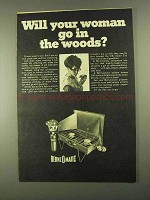 1968 Berzomatic Campstove Ad - Woman Go In the Woods