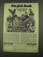 1968 Six Flags Amusement Park Ad - Fun Goes South