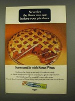 1968 Saran Wrap Ad - Never Let the Flavor Run Out
