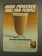 1968 Carnation Instant Breakfast Ad - Fuel for People