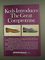 1968 UniRoyal Keds Grasshoppers Shoes Ad - Compromise