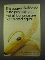1968 Chiquita Bananas Ad - Not Created Equal