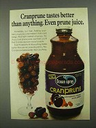 1968 Ocean Spray Cranprune Juice Ad - Tastes Better