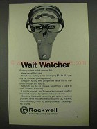1968 Rockwell Parking Meter Ad - Wait Watcher