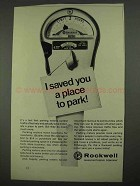 1968 Rockwell Parking Meter Ad - I Saved You A Place