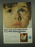 1968 PPG Safety Glass Ad - Make Sure Your Patio Doors