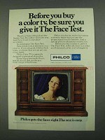 1968 Philco Television Ad - Before You Buy a Color TV