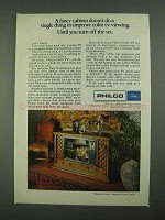 1968 Philco Television Ad - A Fancy Cabinet