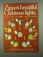 1968 Zippo Cigarette Lighters Ad - Christmas Lights