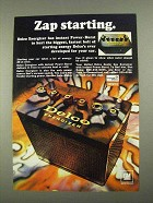 1968 United Delco Energizer Battery Ad - Zap Starting