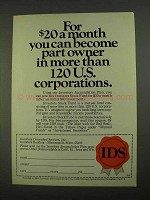 1968 IDS Stock Fund Ad - Part Owner 120 Corporations