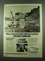 1975 Holiday Rambler Motorhome Ad - Mini with Mostest