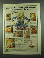 1975 Ace Hardware Ortho Lawn Ad - Connie Stevens